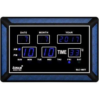 Sonam SLC 10077Blue Digital Wall Clock