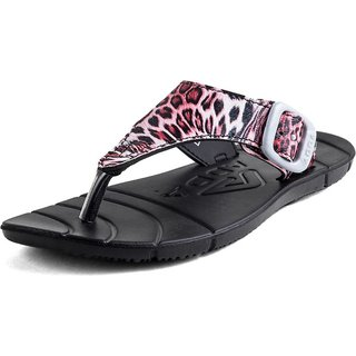 ADDA COMFORTABLE BLACK / PINK COLOR FLIPFLOPS FOR WOMEN