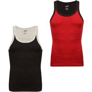 Solo Mens Trendy U  Neck Sporty Cotton Vest (Pack of 2)