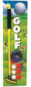 SHRIBOSSJI Colorful Golf Set With 3 Golf Ball, 1 Golf Stick, 1 Hole, 3 Ball Holder Golf Kit