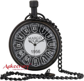 Aakeeraty Hand Crafted Antique Brass Pocket Watch Chain