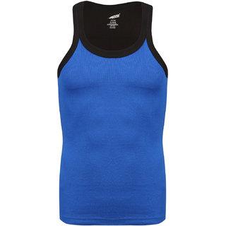 Solo Mens Trendy U  Neck Sporty Cotton Vest Royal Blue Color