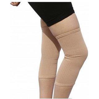 CAP SUPPORT LYCRA PREMIUM Knee Calf Thigh Support (Beige) (Free Size)