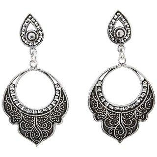 La Belle Vie (LBV) 925 Oxidized Sterling Silver Earring For Women (PC-BCR-1508)