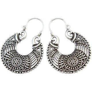 La Belle Vie (LBV) 925 Oxidized Sterling Silver Earring For Women (PC-BCR-1513)