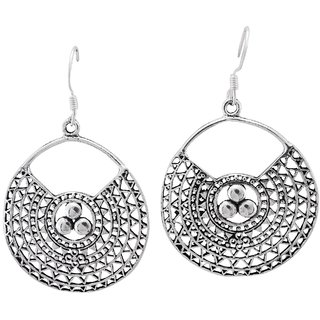 La Belle Vie (LBV) 925 Oxidized Sterling Silver Earring For Women (PC-BCR-1523)