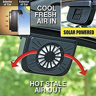 Solar Sun Power Car Auto Air Vent Cool Fan Cooler Ventilation System