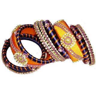 ZAARA'S MULTI COLOR BANGLE SET FOR GIRLS MADE WITH FINE WORK OF ART AND HANDICRAFT WORK