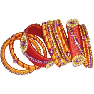 ZAARA'S MULTI COLOR BANGLE SET FOR GIRLS AND WOMEN FOR PARTY WEAR