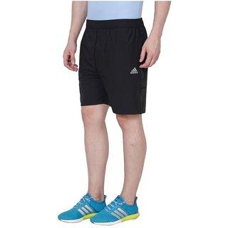 Adidas Black Polyester Lycra Shorts