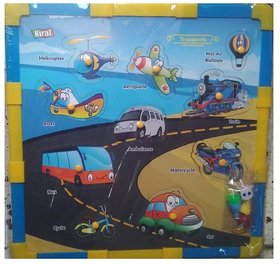SHRIBOSSJI Kirat 2 in 1 Wooden Transport Puzzle with Snake and Ladders (Dice and Token Included)  (10 Pieces) Board Game