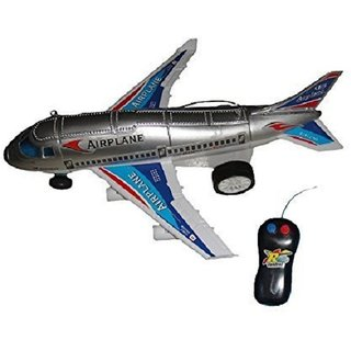SHRIBOSSJI Remote Control Aeroplane 2 Channel Radio Control Plane (Running, Not Flying) For Child, Kids  (Multicolor)