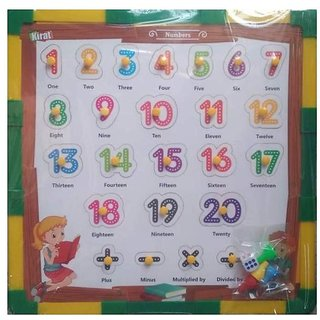 SHRIBOSSJI Kirat 2 in 1 Wooden Numbers 1 To 20 Puzzle with Snake and Ladders (Dice and Token Included)  (24 Pieces)