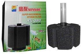 XY-380 Big size Bio Sponge Filter for Aquarium Fish Tank  COLOURFUL AQUARIUM