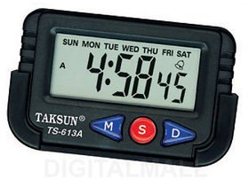 KunjZone Clock for Car Dashboard / Office Desk Alarm Clock