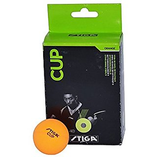 Stiga Cup Table Tennis Ball TT Pack of 6 (Orange)