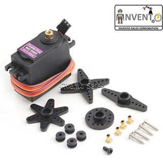 Invento INVNT74 2 Pieces Mg 996R Metal Geared Servo Motor 15Kg cm Torque Plane Helicopter Boat Car