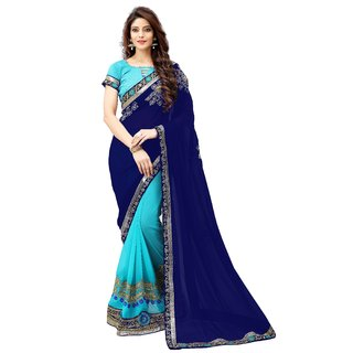 BollyLounge Women's saree with blouse piece