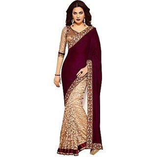 Nitesh Cloth Embriodered Bollywood Handloom Velvet Sari