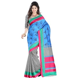 Sukuma Party Wear Daisy Art Silk Designer Sari