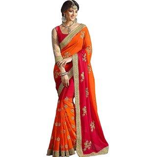 Sri Guru Fashions women's party wear Sarees