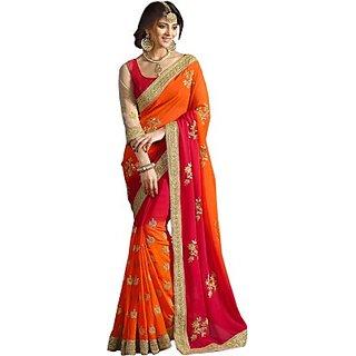 Embriodered  sari