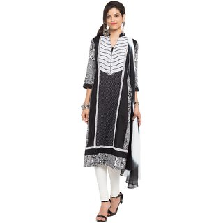 Subhash  Black Plain Cotton Saree For Women