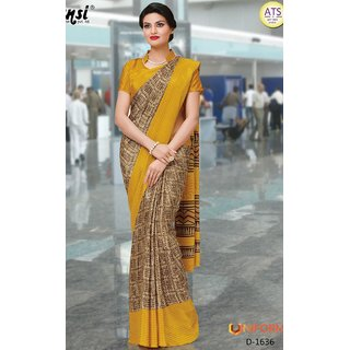 Sudarshan Silks Yellow Raw Silk Self Design Saree With Blouse