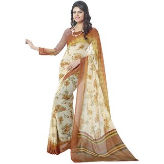 SUDARSHAN ELEGANCE DISIGN SAREE-White-MSC521BKINJAL-VQ-Cotton