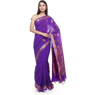 SUDARSHAN NEW COTTON SAREE-Purple-SBTI46-VQ-Cotton