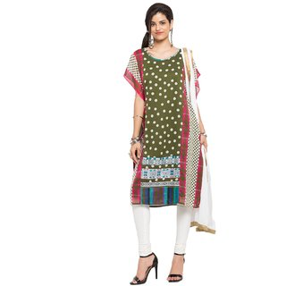 Subhash  Multicolor Plain Georgette Saree For Women