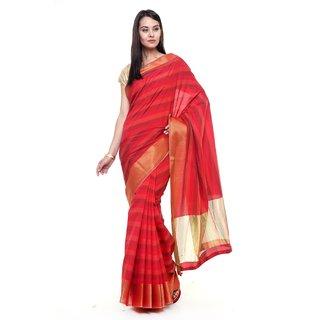 SUDARSHAN NEW RAW SILK SAREE-Red-SUT2675-VQ-Raw Silk