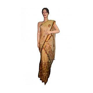 Assemese Traditional Mekhela Cream Chadar Saree