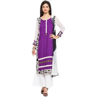Subhash  Purple Plain Cotton Saree For Women