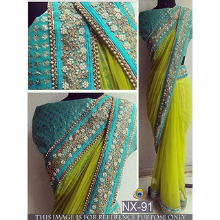 SRK Multicolor Georgette Embroidered Saree With Blouse