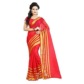 Indian Beauty White Georgette Self Design Saree With Blouse