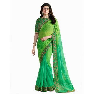 Multi Georgette Embroidery Party Wear Saree With Blouse Pis