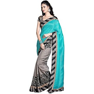 Sarees Floral Print Bollywood Art Silk Sari