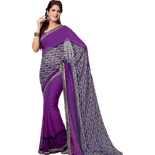 Riya Purple Fashion Printed Designer Saree