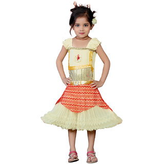 White World Princess Baby Girls Blue Color Net  Silk Birthday Party wear frock