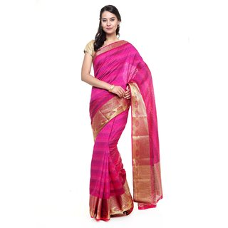 SUDARSHAN NEW RAW SILK SAREE-Pink-SUT2679-VQ-Raw Silk
