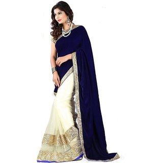 vraj fashion hansa blue saree bollywood saree