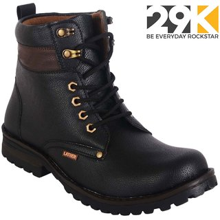 29K Men's Black Lace-Up Black Boot