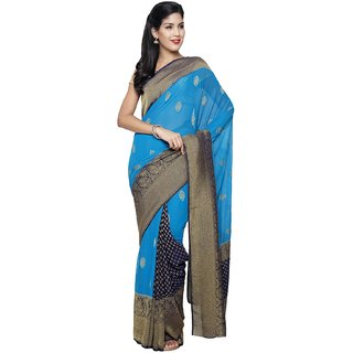 PAVAN NEW COLORFULL SAREE-Blue-PAVAN228-VR-Chiffon