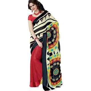 Riya Red and Sandal Color New Designer Saree