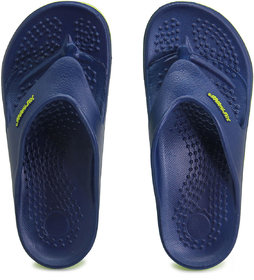 Solethreads Navy-Lime Color Slippers For Men