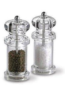 SNR Transparent Pepper Grinder or Salt Shaker With Metal Blade For Kitchen Use