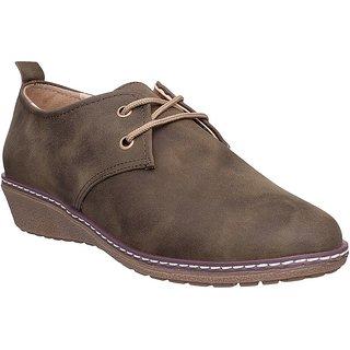 Flora Comfort Olive Casual Shoe