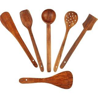 Triple S Handicrafts Wooden Spatula set of 7