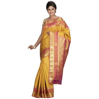 KANJEEVARAM SILK DESIGNER SAREE-Yellow-SLNSA29-VP-Silk